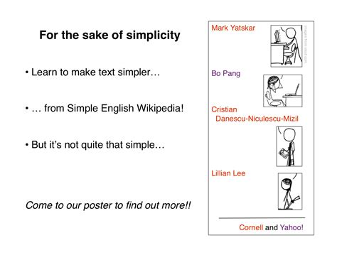for the sake of simplicity unsupervised extraction of