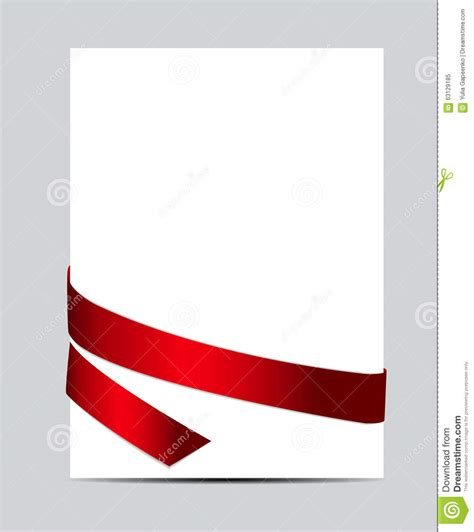 Red Gift Card - gift card with red ribbon vector illustration stock vector image 63129185