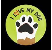 Dome Badge I Love My Dog