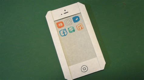 How To Make A Paper Iphone - 簡単 スマホ 折り紙easy quot smart phone quot origami