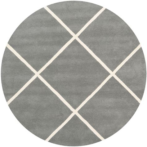 Safavieh Grey Rug Safavieh Chatham Grey Ivory 7 Ft X 7 Ft Area Rug Cht720d 7r The Home Depot