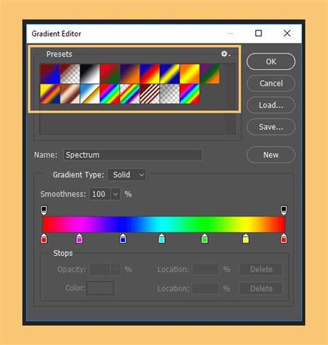 membuat gradiasi warna  photoshop gambar