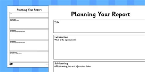 non chronological report template planning report writing