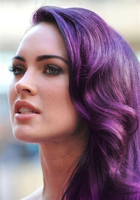 megan kelly who colors her hair megan fox purple pastel hair dyed hair pastel hair