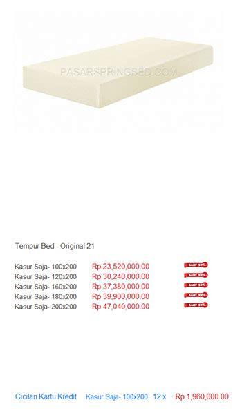 Kasur Tempur harga tempur bed harga bed termurah di