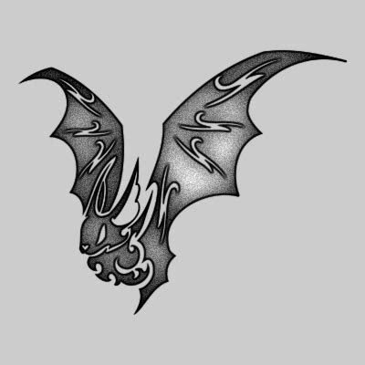 tribal bat tattoo bat tattoos and designs page 42
