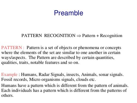 pattern recognition and machine learning applications pattern recognition and machine learning