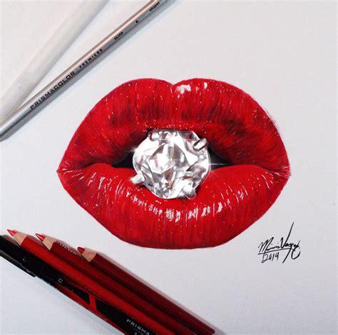 Lip Colour Pencil Make realistic pencil drawing