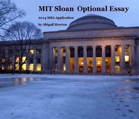 Mit Sloan Mba Essay by Mit Sloan Optional Essay Blurb Books
