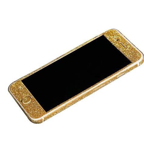 Sticker Glitter Iphone 5 5s gold glitter sticker skin iphone 6 iphone 6 plus iphone 5