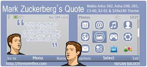 nokia c3 themes with media player mark zuckerberg s quote theme for nokia series 40 devices
