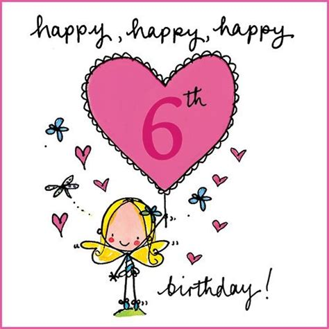 6 Year Birthday Card Sayings Pin By Cheryl On Birthday Clip Art Pinterest Happy
