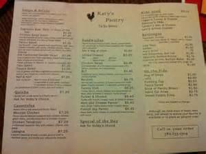 katy s pantry menu menu for katy s pantry enid enid