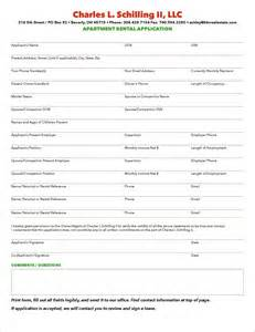 apartment application form template printable rental application form application