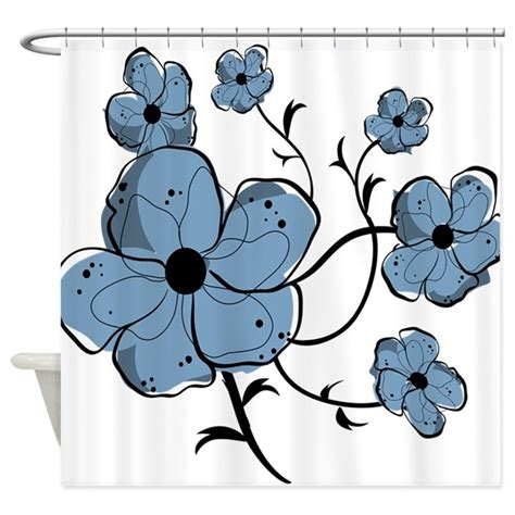 blue and black shower curtains modern blue and black floral shower curtain by auslandgifts