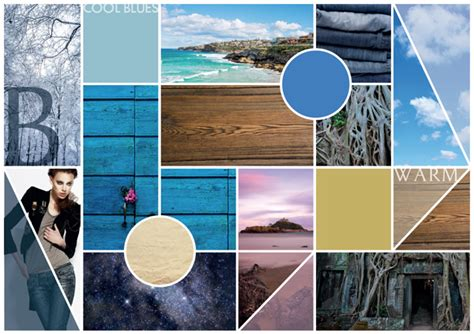 Create A Design Moodboard Communicating Color And Texture In Adobe Indesign Mood Board Illustrator Template
