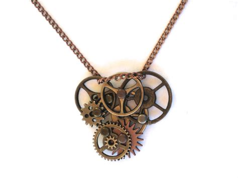 Steampunk Gear Necklace by jjewelry on DeviantArt