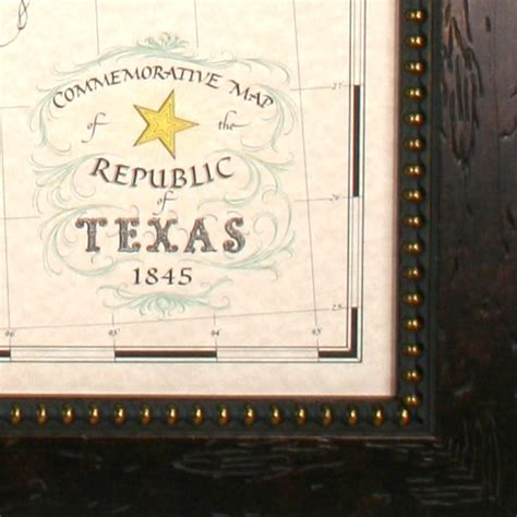 framed texas maps buy republic of texas map 1845 framed historical maps and flags home office decor