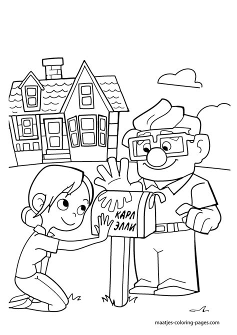 Coloring Page Up House by Up Coloring Pages To And Print For Free