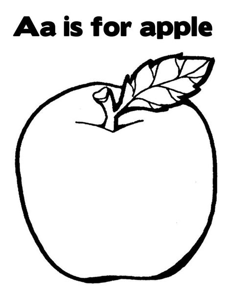 A For Apple Coloring Page a is for apple coloring page coloring