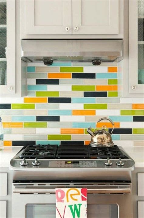colorful backsplash tile colorful kitchen backsplashes comfydwelling com