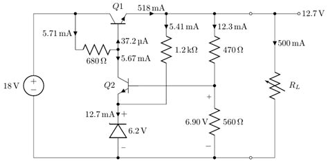 series circuit design what does this component do in this series pass regulator