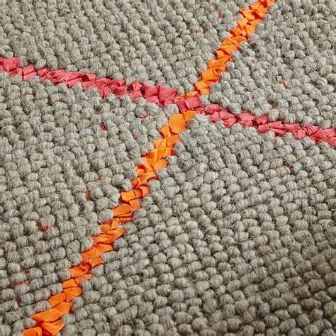 neon wool rug gray neon pink west elm