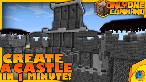 modernes haus minecraft command generate a castle with only one command block minecraft