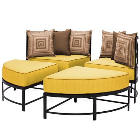 round sectional patio furniture san michele all weather cast aluminum outdoor round sectional
