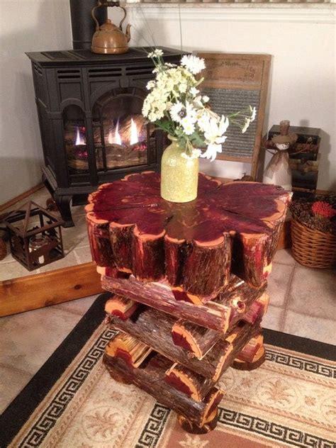 cedar log bench wood furniture pinterest live edge log table eastern red cedar free form rustic cabin furniture beautiful redwood