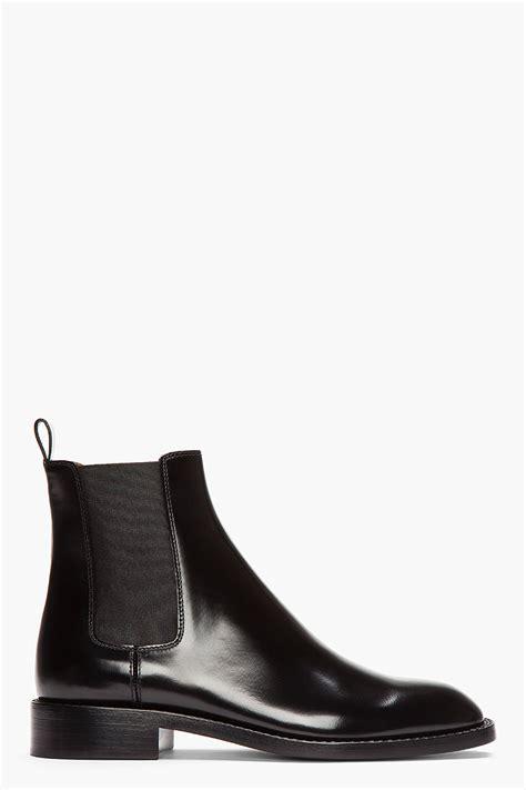 laurent black patent leather cavaliere chelsea boots