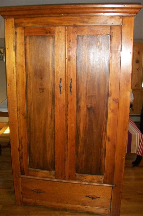 S Wardrobe Cabinet Early American Furniture Antique Primitive Pine Colonial