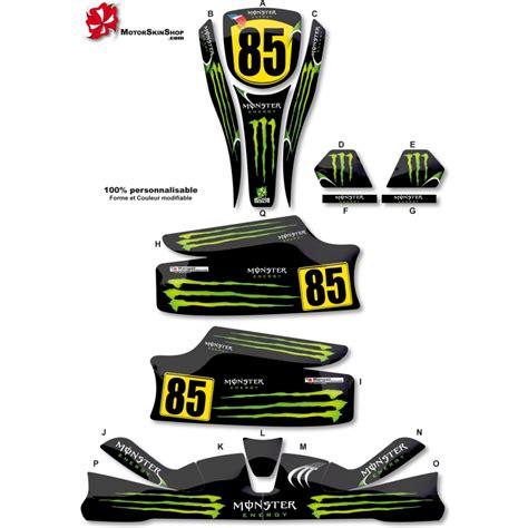 Monster Energy Kart Aufkleber by Kit D 233 Co Karting Kg Unico Monster Energy