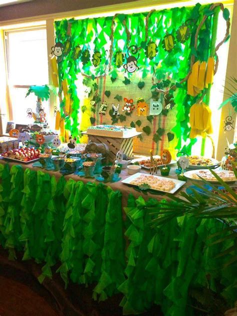 baby shower jungle theme decorations 1000 ideas about jungle baby showers on