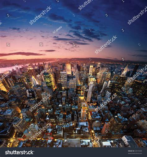 amazing view to new york manhattan newyork city stock