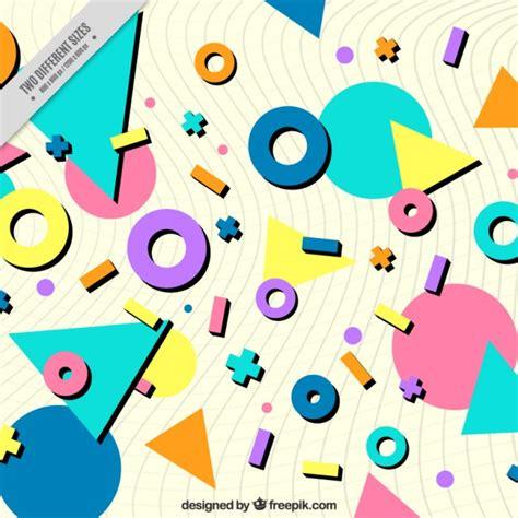 figuras geometricas vector fondo de figuras de colores geom 233 tricas descargar