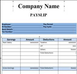 salary slip format in excel excel template
