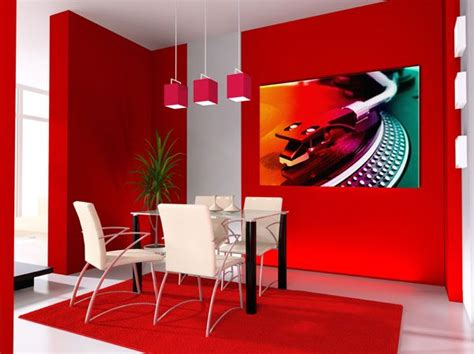 how to paint a room red dining room design with vibrant fire red and white