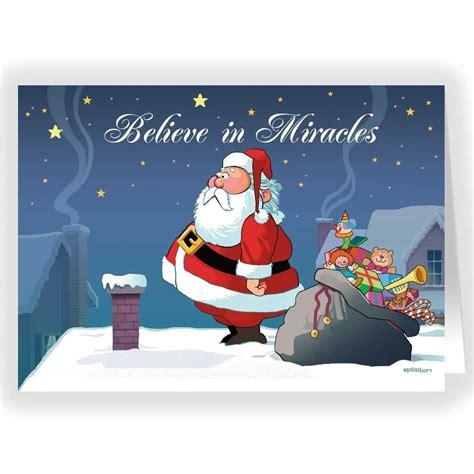 funny christmas card christmas card all i want for do you believe in miracles funny christmas card 18 cards