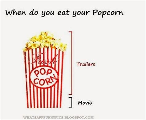 Pop Corn Meme - when do you eat a popcorn while watchin a movie whatsapp