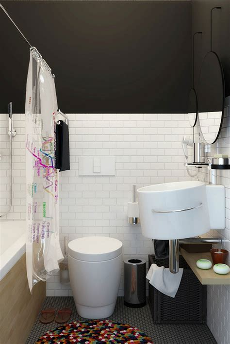 wonderful Small Apartment Living Room Decor #3: Compact-bathroom-in-white.jpg
