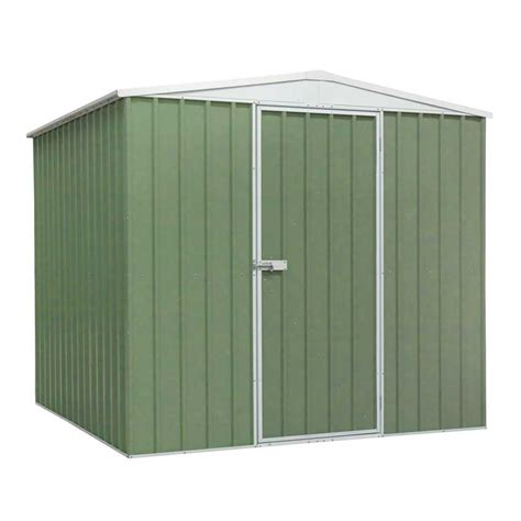 Galvanised Steel Shed by Sealey Galvanised Green Steel Shed