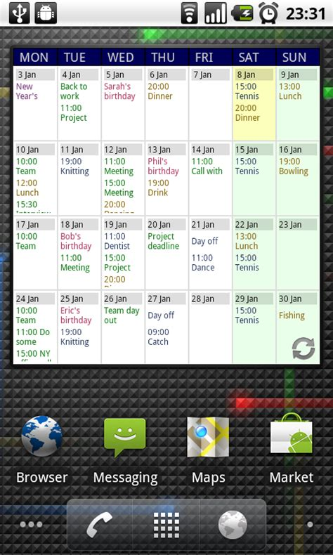 S Calendrier Android Touch Calendar App For Android Phones Mobile News