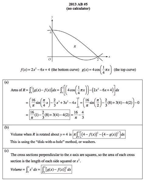 Ab Calculus Topic Outline by Solutions To Ap 2013 Released Free Response Ab 5