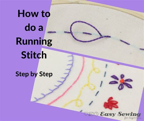 how do you do a slip stitch in knitting the running stitch for embroidery easy sewing for