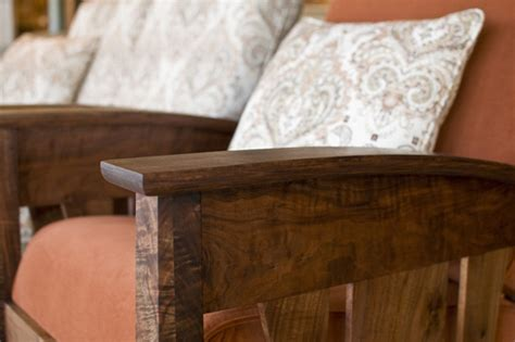 pacific loveseat and chair in western walnut the joinery