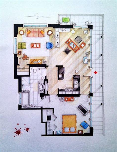 layout of dexter s apartment dexter s apartment tv shows pinterest