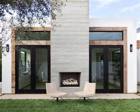 stucco outdoor fireplace houzz