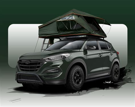 Solar Lights For Steps Customized Hyundai Tucson Aims At Campers Geeky Gadgets