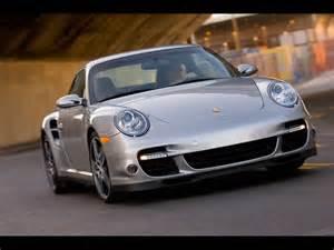 2007 Porsche Turbo 2007 Porsche 911 Turbo Silver Front Angle Turn